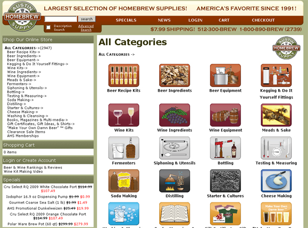 Austin Homebrew Supply Website