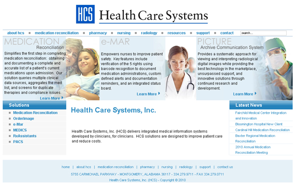 Health Care Systems Inc. Website